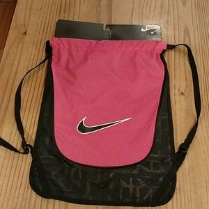NEW!  Pink and black Nike bag.